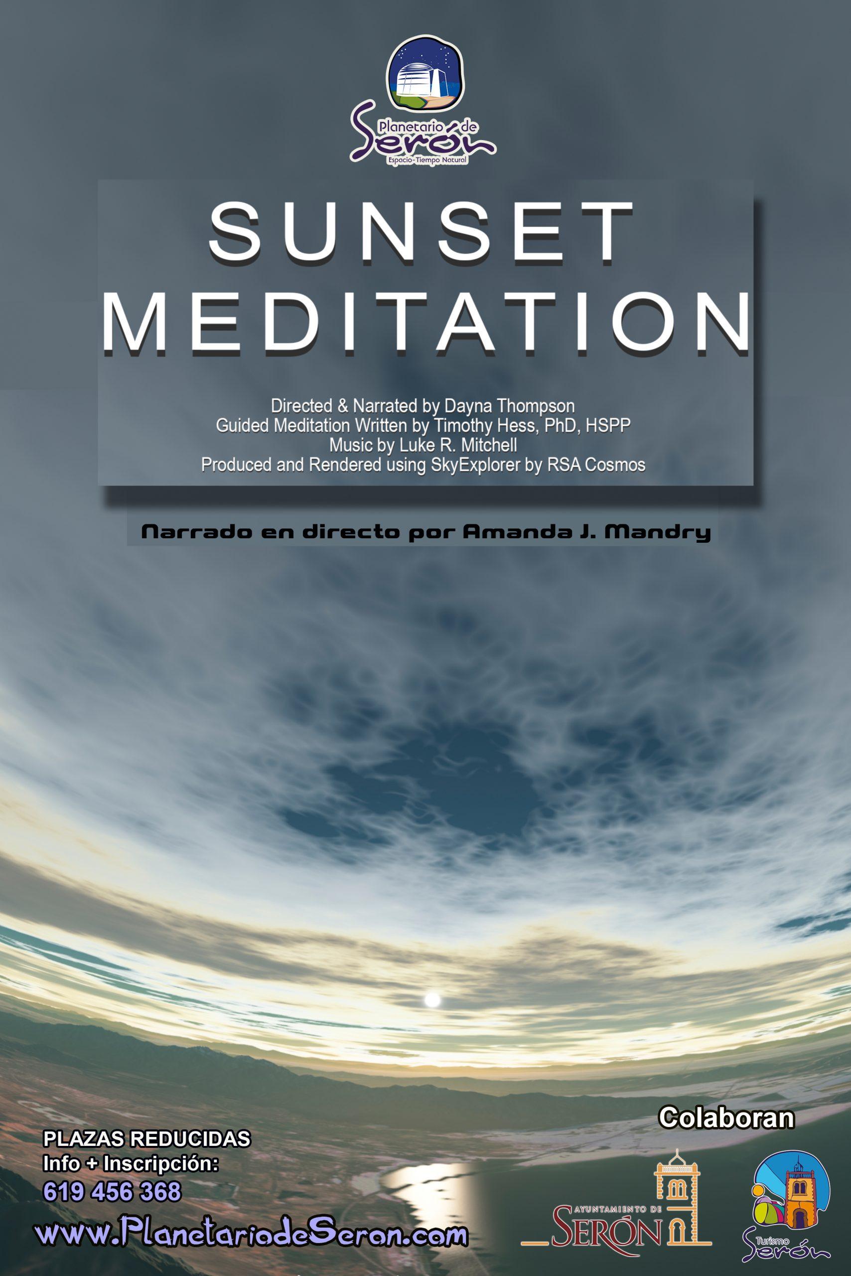 sunset meditation planetario de Serón Almería